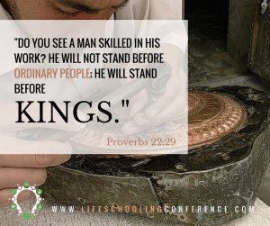 do you see a man skilled in his work- He will not stand before ordinary people; he will stand before