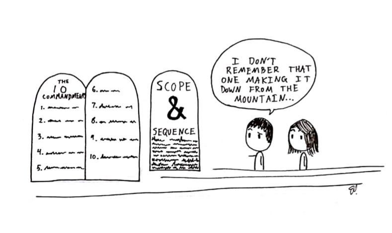 scope and sequence comic