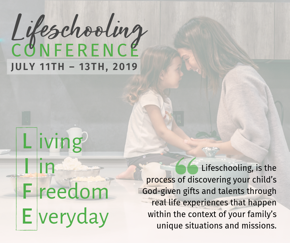 L.I.F.E. - Lifeschooling Conference - FB image