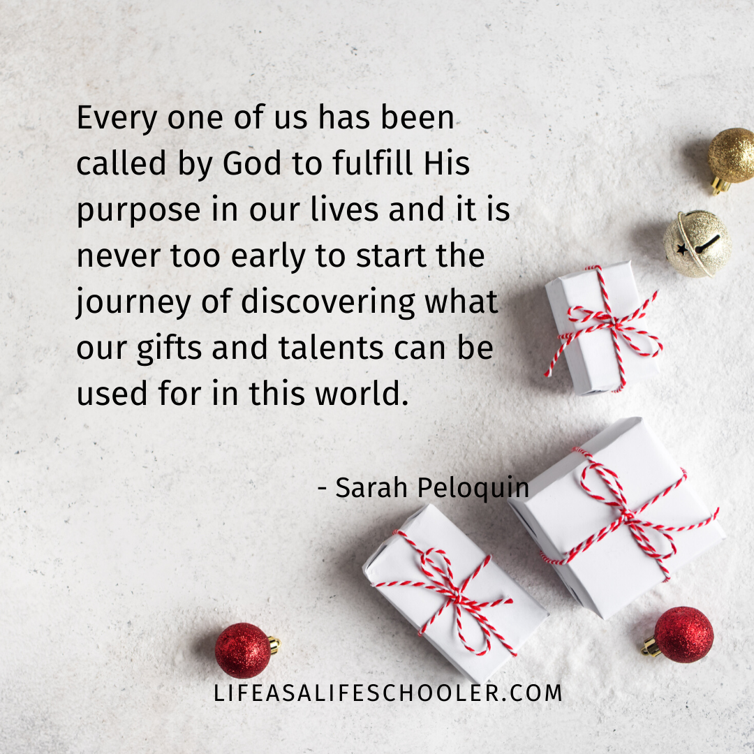 Every one of us has been called by God to fulfill His purpose in our lives and it is never too early to start the journey of discovering what our gifts and talents can be used for in this world.