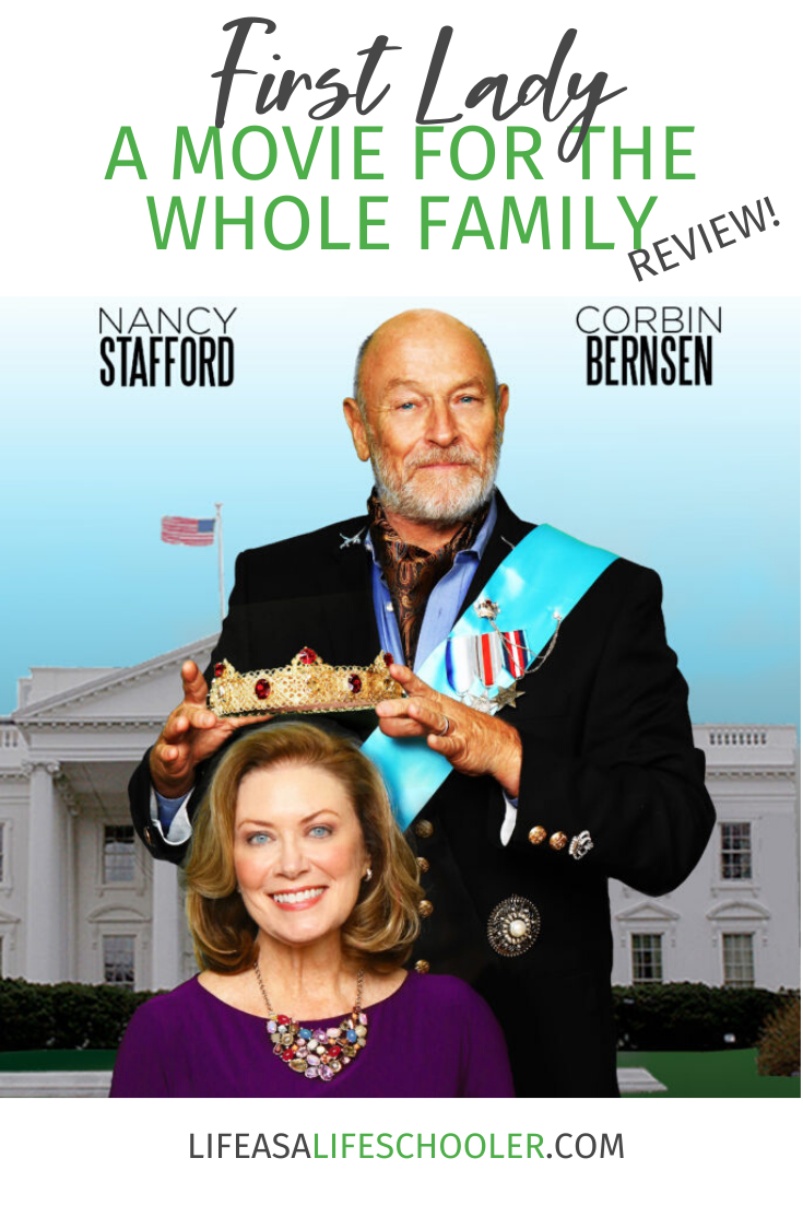 My family and I had the opportunity to view First Lady, starring Nancy Stafford and Corbin Bernsen, for one of our recent family movie nights and we enjoyed the humor, mixed with a sweet love story.