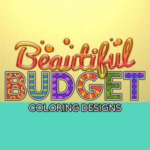 Beautiful budget coloring planner