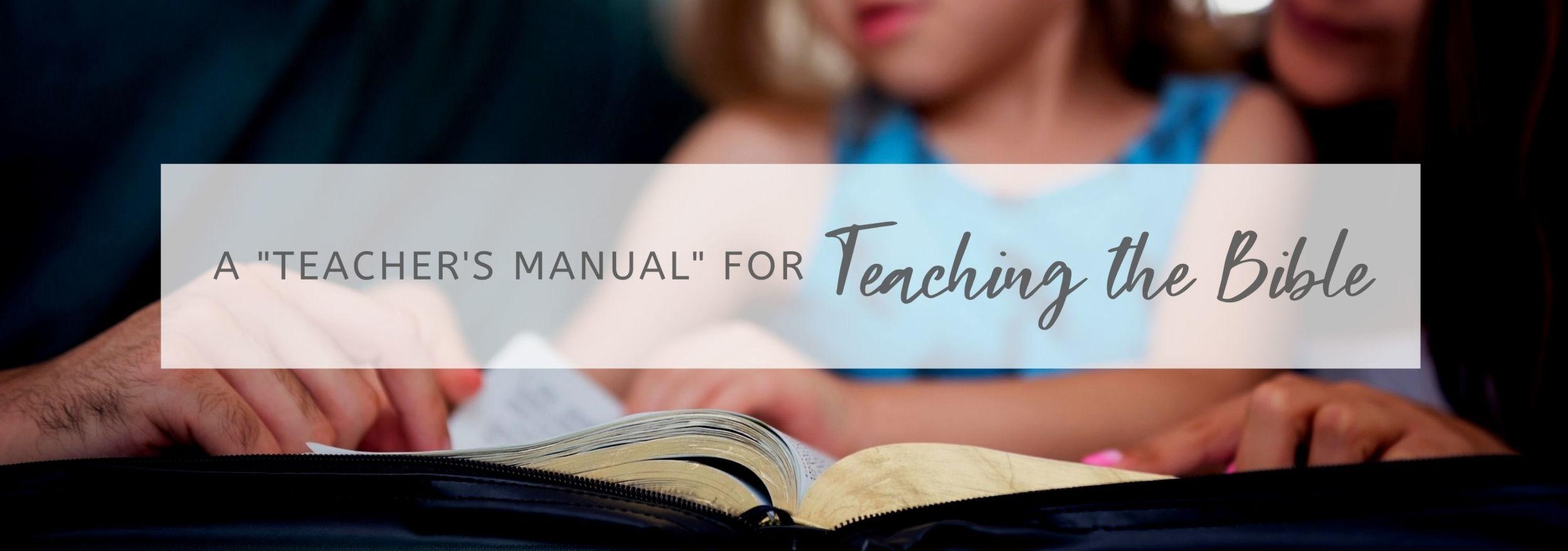 teaching the bible